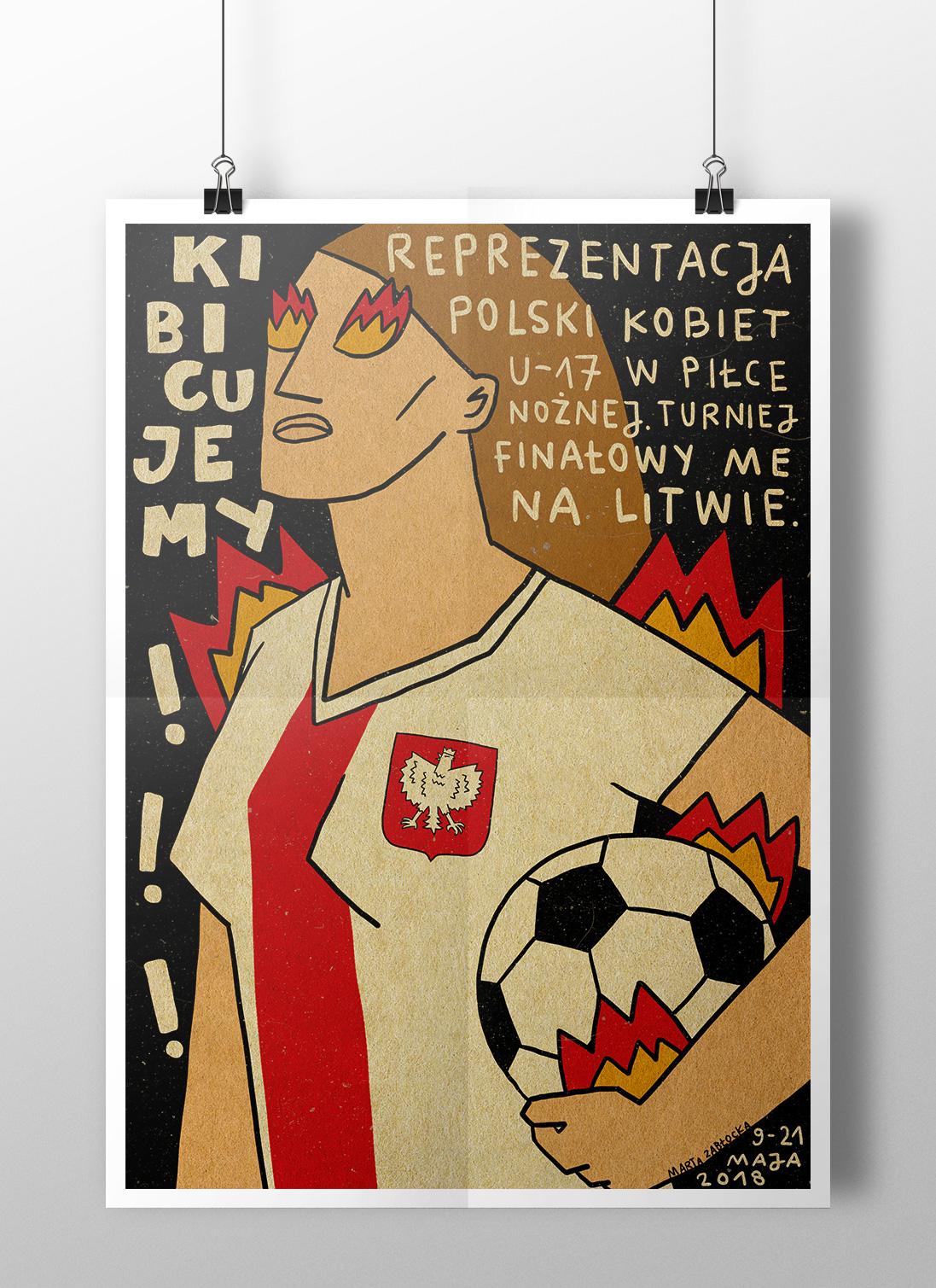 Reprezentacja piłki nożnej kobiet - poster